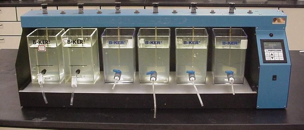 Determination of Optimum Coagulant Content in Water by JAR TEST