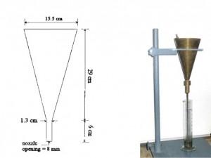 Marsh cone test apparatus