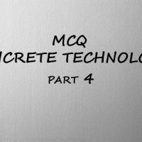 MCQ Concrete Technology ( Part 4 )- IES, RRB, GATE EXAMS MCQ